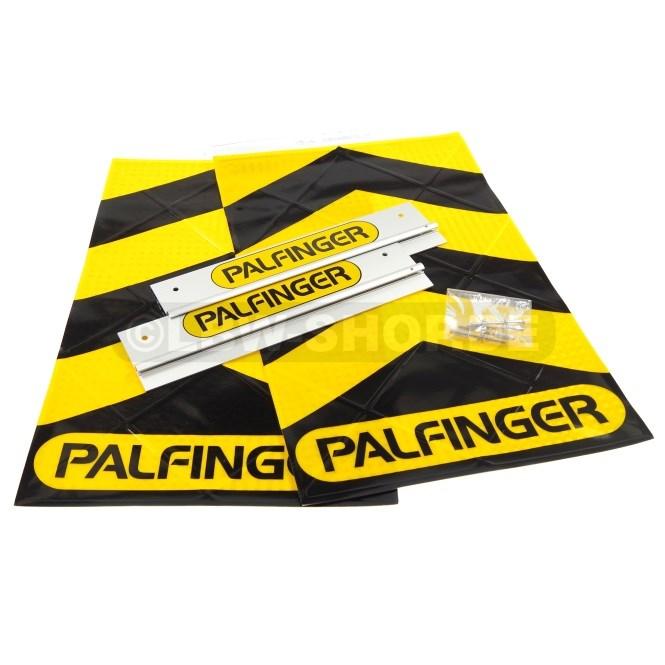 Warnflaggen Satz Alu Schwarz/Gelb Palfinger