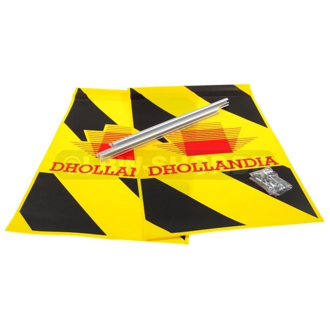 Warning Flag Kit Alu Black/Yellow Dhollandia