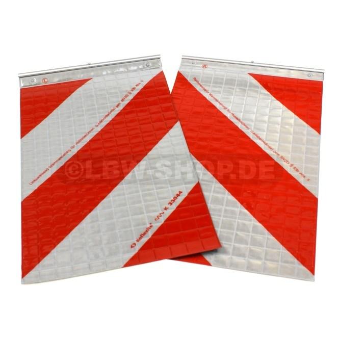 Warnflaggen Satz Alu 420x250mm