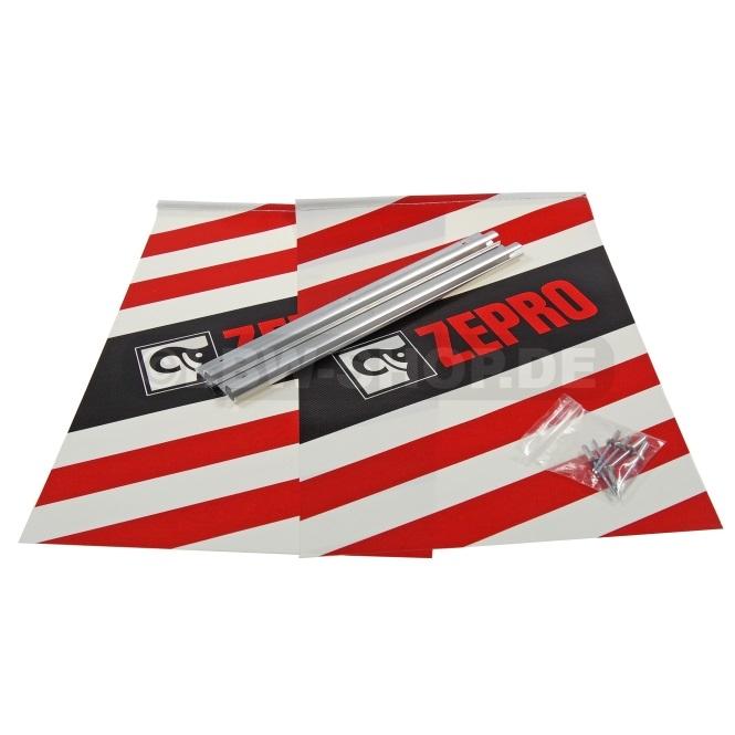 Warnflaggen Satz Alu S/R/W Zepro