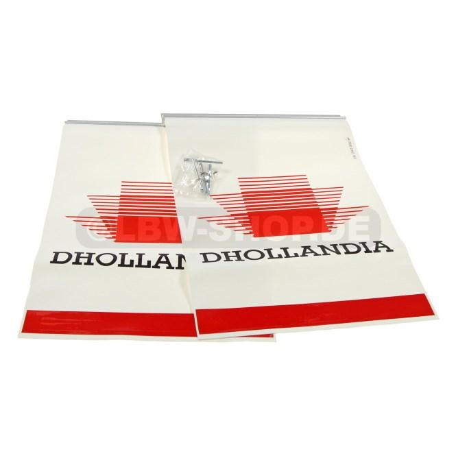 Warning Flag Kit Alu White/Red Dhollandia